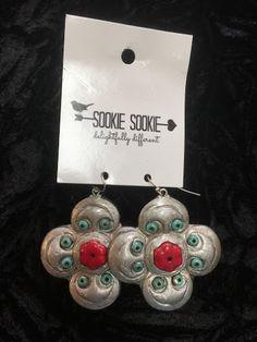 Sookie Sookie Red & Turqoise Earrings
