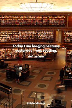 jmlalonde.com / Amit Kalantri / Today I am leading because yesterday I was reading.