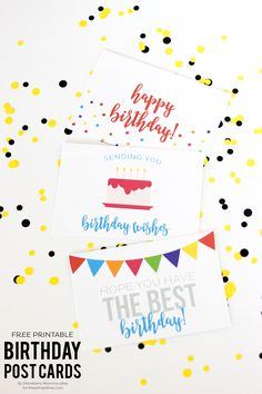 FREE Printable Birthday Postcards