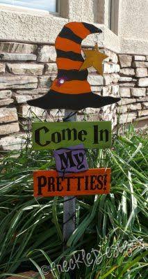 Come in My Pretties yard sign - Halloween - Wicked Witch Halloween Subway Art, Dulceros Halloween, Halloween Wood Crafts, Adornos Halloween, Manualidades Halloween, Outdoor Halloween, Halloween Projects, Holidays Halloween, Holiday Crafts