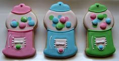Gumball Machine Cookies 2 dozen by TheSweetShopCookieCo on Etsy, $53.90