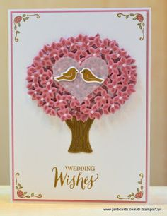 A double-layer tree card I made using the fabulous Stampin' Up! Limited Edition Thoughtful Branches Stamp Set & Dies Bundle available during August 2016. Check out my video for the double-layer card.