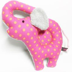 Elephant Baby rattle sensory toy out of  pink with by RBQuery