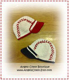 BASEBALL CAP Crochet Hat Pattern Size Newborn to Preteen Boutique Design - No. 40 by AngelsChest