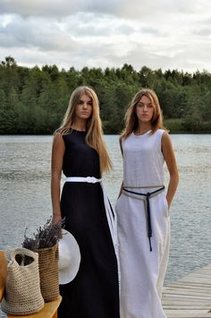 Maxi dress / long dress / 100% linen flax Maxi dress от 220linen