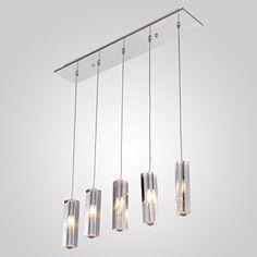 Ferand Moderne Einfache Kristall Pendelleuchte Mit 5 Leuchten, Deckeneinbau  Kronleuchter Leuchte Decke Für Esszimmer Ferand