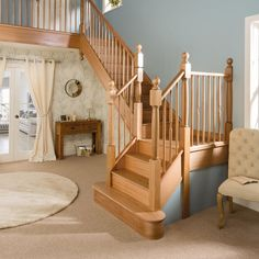 Staircase Renovations | Stairs | Banisters | Neville Johnson Wooden Staircase Design, Loft Staircase, Stair Banister, Timber Staircase, Staircase Remodel, Wooden Staircases, Wooden Stairs, Stairs Canopy, Bespoke Staircases