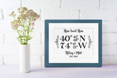 There are millions of unique geographic coordinates in the world. And out of all the possible locations, you've found your little piece of paradise. Treasure your home address, past or current, with our Longitude/Latitude design. #cottonnink . . . . . #housewarming #anniversary #wedding #homedecor #weddingart #engagement #engagementday #engagementparty #engagementgift #typography #typographyart #typographyinspired #typographylove #typographydesign #cottonart #inspireddesign #inspireddesigner…