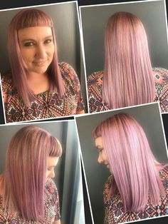 In-salon Pastel Pink with a Funky Short Fringe by Talented Pasquale Top Stylist Marizka Morritt. For an Appointment with this Awesome Stylist Phone 011 391 3105/6 #pink #hair