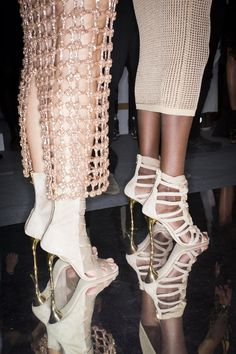 Backstage at Balmain Spring 2016 #ss16 http://www.closetonthego.com/eshop-brands/2306/balmain/