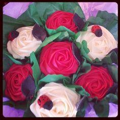 Rose cupcake bouquet x