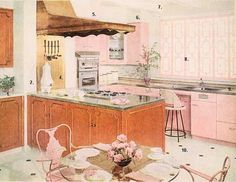 Pink kitchens from RetroRenovatin.com - Pam Kueber - Picasa Web Albums