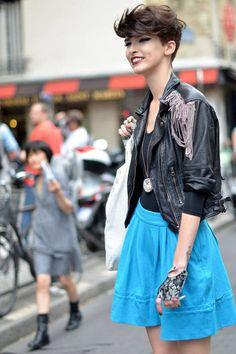 Anna Della Russo - Paris Street Fashion - Summer Street Fashion in Paris - Elle Couture Week, Punk Fashion, Fashion Beauty, Daily Fashion, Street Chic, Street Wear, Paris Street Fashion, Top Mode, Street Style Summer