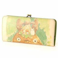Wallet Purse Gamaguchi - Cowhide - Mei & Sho & Totoro - Ghibli - 2015 (new)