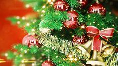 1920x1080 Wallpaper new year, christmas, tree, toys, bells, ribbon, holiday