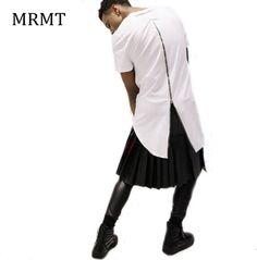 Men casual t shirt tyga cool Long zipper T shirt Gold side zipper short sleeve t-shirt hip hop Long Tee pullover 3 colors #Affiliate