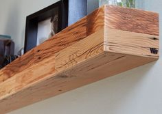 Modern Reclaimed Floating Mantle by wrenwoods on Etsy