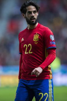 Francisco Roman 'Isco' of Spain reacts during the FIFA 2018 World Cup Qualifier between Spain and Israel at Estadio El Molinon on March 24, 2017 in Gijon, Spain.