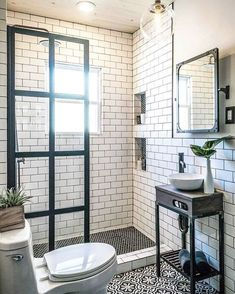 Small stylish bathroom