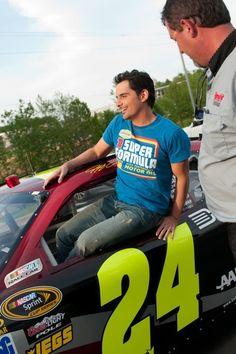 Brad Paisley driving Jeff Gordon's 24