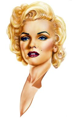 Marilyn Monroe illustration by Corey Wolfe | This image first pinned to Marilyn Monroe Art board, here: http://pinterest.com/fairbanksgrafix/marilyn-monroe-art/ || #Art #MarilynMonroe