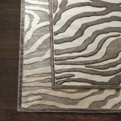 love this rug. Celine Zebra Rug - Ballard Designs