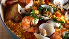 PAELLA | Chef Oropeza Fish Dishes, Mexican Food Recipes, Spanish, Meat, Chicken, Baking, San Francisco, Salads, Recipes With Rice