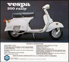 A visual library dedicated to the Piaggio Vespa Rally 200 Electronic Piaggio Vespa, Lambretta Scooter, Best Scooter, Scooter Girl, Vespa 200, Vespa Motor Scooters, Vespa Illustration, Scooter Garage, Vespa Sprint