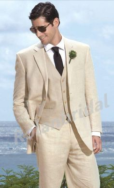 2014 New Arrival Custom Made Groom Tuxedos Two Buttons Wedding Suits For Man Groom Suits Ivory Groom Tuxedos Jacket+Pants+Tie+Vest Mens Wear Suit Jacket From Rolanbridal, $76.39| Dhgate.Com