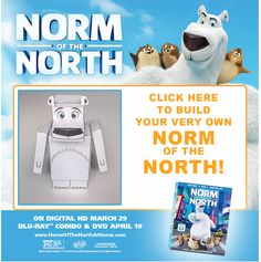 I received the product below to review in exchange for sharing my honest opinion. Norm of the North Released: April 19, 2016 Running Time: 90 minutes Telling the ultimate tale of a loveable underdog who proves anything is possible with determination and a posse of loyal lemmings, Norm of the North f...