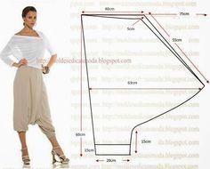 Plantillas de moda medir: Pantalón Saruel - 2