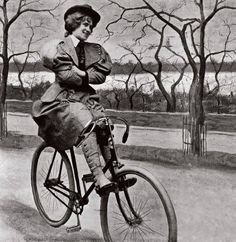 1895-woman on bicycle