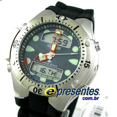 e4f841872b5 JP1060-01L Relógio Citizen Aqualand II Profundímetro e Alarmes Relógios  Esportivos