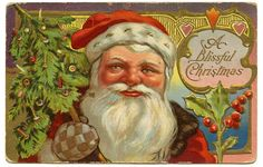 *The Graphics Fairy LLC*: Vintage Christmas Clip Art - Victorian Santa with Tree