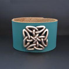 Celtic Love Knot Bracelet - Leather Cuff