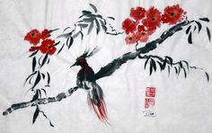 Christine Leisi - Red Dream #Sumi-e