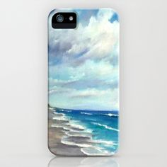 Summer Showers Seascape iPhone & iPod Case by Rosie Brown - $35.00  #iphone #ipod #case #society6 #beach #seascape #summer #florida