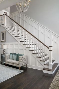 Staircase Remodel, Staircase Makeover, Home Design, Interior Design, Design Ideas, Wall Design, Modern Interior, Interior Architecture, Paint Colors For Home