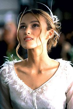 """Keira Knightley portrays the character of Juliet in the movie """"Love Actually"""".......she's so angelic."""