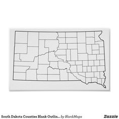 photograph regarding South Dakota County Map Printable called 53 Simplest Blank Define Maps shots within just 2018 Define, County