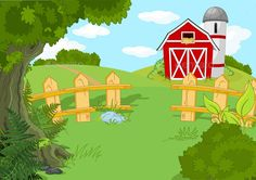 Buy Idyllic Farm Landscape by Dazdraperma on GraphicRiver. Illustration of idyllic rural landscape. Background Clipart, Background Drawing, Scenery Drawing For Kids, Landscape Clipart, Bookmark Craft, Architecture Background, Farm Yard, Farm Fence, Silhouette Clip Art