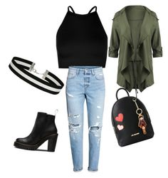 """""""bold look"""" by palakbharara ❤ liked on Polyvore featuring Boohoo, H&M, Magdalena, Love Moschino and Miss Selfridge"""