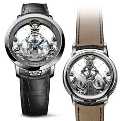 Instrument Collection Arnold & Son unveils a new reference of its iconic Time Pyramid featuring the hand-finished A&S1615 calibre treated in NAC grey, housed in a stainless steel case Arnold & Son Time Pyramid in stainless steel case (See more at En: http://watchmobile7.com/articles/arnold-son-time-pyramid-stainless-steel-case) (3/6) #watches #arnoldandson