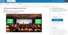 """Disponível agora em PDF para leres onde quiseres: """"Como Desenvolver a Tua Própria Máquina para Realizar Sonhos - O Hangout"""" https://www.scribd.com/doc/298400953/R-Evolucao-Pessoal-O-Hangout-da-Visao-da-Tribo"""