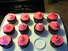 edible spray painted cupcakes. Black Bedroom Furniture Sets. Home Design Ideas