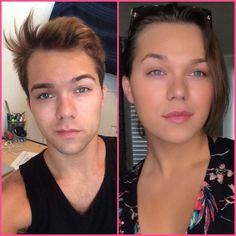 Very pretty. Just had to soften the edges. Transgender Before And After, Mtf Before And After, Male To Female Transition, Mtf Transition, Transgender People, Transgender Girls, Mtf Hrt, Amelia, Male To Female Transformation