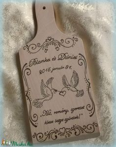 Esküvőre - vágódeszka (turmix) - Meska.hu Bottle Opener, Diy, Bricolage, Do It Yourself, Homemade, Diys, Crafting