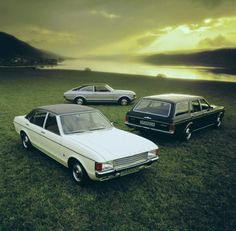 Ford Granada Ghia range. Saloon, Estate Car and Coupe. The latter was very desirable