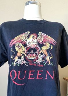 Items similar to VINTAGE QUEEN Concert Tour Unisex T-Shirt Size Medium Soft Band Men's Women's Short Sleeve Hipster Grunge Tee on Etsy - mens clothing buy online, outfit mens clothing, mens clothing online