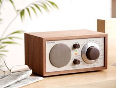 Tivoli Model One Radio in Classic Beige/Walnut Radio Design, Speaker Design, Tivoli Radio, Radios Retro, Interior Design Shows, Audio, Model One, The Design Files, Global Design